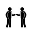 1334 stick figure handshake vector image vector image