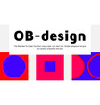abstract colorful landing page template with vector image
