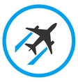 Air Jet Trace Rounded Icon vector image