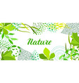 background of stylized green leaves for greeting vector image vector image