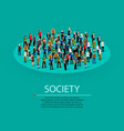big people crowd in circle society concept vector image