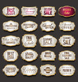 blank golden frames and labels collection vector image vector image