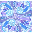 Blue abstract hand-drawn pattern vector image vector image