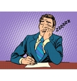 Boring report A man fell asleep on lectures vector image vector image