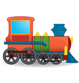 Cartoon locomotive vector image vector image
