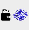 cash purse icon and scratched purchase vector image vector image