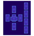 Celtic cross tarot spread Card back side vector image vector image