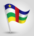 central african republic flag on pole vector image vector image