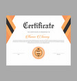 certificate template for diploma and graduation vector image vector image