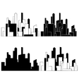 City Buildings silhouettes icon vector image
