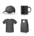classic black promotional souvenirs design set vector image vector image