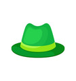 classic green hat for men on vector image vector image