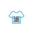 cloth barcode logo icon design vector image