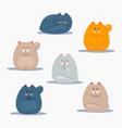 collection of cute cats vector image vector image