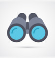 colored binoculars trendy symbol vector image vector image