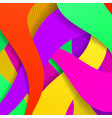 colorful modern background with curved lines vector image