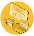 concept for responsive web design vector image vector image