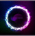 cosmic circle frame vector image vector image