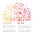 data science line template vector image vector image