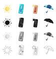 design of weather and climate icon set of vector image