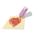 Draw a heart vector image vector image