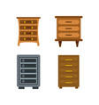 drawers icon set flat style vector image vector image