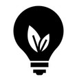 eco bulb icon simple style vector image