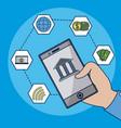 financial technology concept vector image