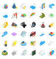force icons set isometric style vector image vector image