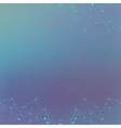 Geometric blue background molecule and vector image vector image