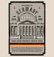 germany travel retro poster berlin city tours vector image vector image