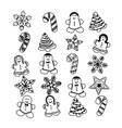 Gingerbread Christmas set Cookies vector image