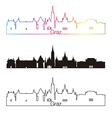 Graz skyline linear style with rainbow vector image vector image