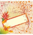 grunge frame background with colorful vector image vector image