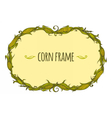 Hand drawn oval corn frame vector image vector image