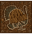 handpainted a turkey and autumn gifts vector image