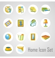 Home icons set 14 objects in the same style vector image vector image