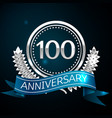 hundred years anniversary celebration design vector image vector image