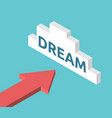 isometric arrow dream cloud vector image vector image