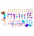 isometrics create your style girl teenager vector image vector image