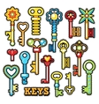 Keys Decorative Elements for Scrapbook vector image vector image