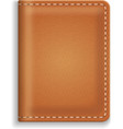 Leather diary or cooking book cover isolated on vector image vector image