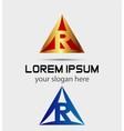 Letter R logo symbol vector image