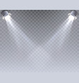 light template on the transparent background vector image