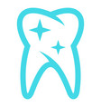 long tooth icon flat style vector image vector image
