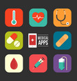 medical apps vector image