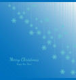 merry christmas and happy new year with white vector image
