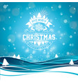 merry christmas with typography vector image