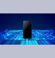 mobile smartphone technology digital blue vector image vector image
