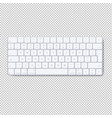 modern aluminum computer keyboard isolated vector image vector image